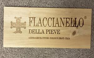 Fontodi Flaccianello Super Tuscan **RARE** Wood Wine Panel