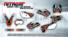 KTM Graphics Kit Decal Design Stickers  EXC EXC-F 125 250 300 450 525 2005-2007