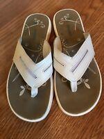 Ingaro White Flip Flops Size 10 Women