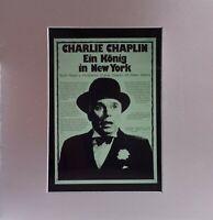 Kino # Film-Werbe-Dia # 85mm x 85mm # Charlie Chaplin # Ein König in New York