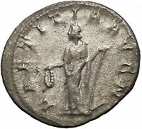 GORDIAN III 241AD Silver Ancient Roman Coin Happiness Cult Anchor Hope i53194