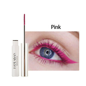 Pink Telescopic Mascara Thrive Waterproof Colored Mascara Long Lasting 5ML