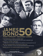 JAMES BOND 50TH ANNIVERSARY S1 ULTRA MASTER SET AUTOGRAPHS CASE INCENTIVES+++