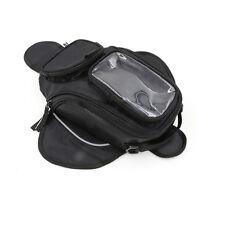 Universal Magnetic Motorcycle Oil Fuel Tank Bag Waterproof Phone Holder Black