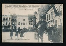 Military WW1 Belgium Flanders KG5 & King Belgium meeting Royalty PPC