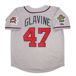 Tom Glavine Atlanta Braves 1995 World Series Grey Road Jersey Men's (M-2XL)