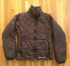 Columbia Girls Puffy Quilted Jacket / 10 12 Brown / Insulated Winter Layer