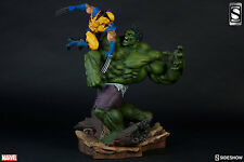 SIDESHOW EXCLUSIVE Signed By STAN Lee HULK VS WOLVERINE FIGURE STATUE AVENGERS