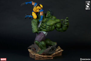 SIDESHOW EXCLUSIVE HULK VS WOLVERINE MAQUETTE FIGURE STATUE AVENGERS Red Gray