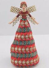 GISELA GRAHAM CHRISTMAS RESIN FABRIC FESTIVE VINTAG FAIRY ANGEL TREE TOP SMALL