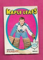 1971-72 OPC # 131 LEAFS BERNIE PARENT  FAIR  CARD  (INV# C7757)