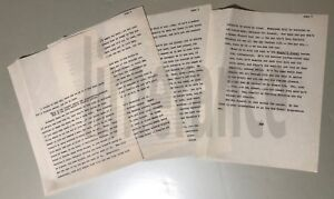 Jean Shepherd Orig. Typed  Story  Circa 1961:  On Modern Funerals  - RARE!!