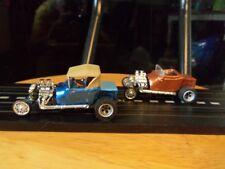 Hot Rod/Street Rod/T Bucket Pair/Set/Both Custom HO Scale Slot Car Aurora Tjet