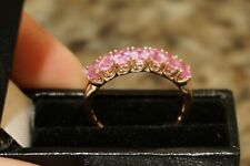 10 K Rose Gold Pink Sapphire Ring Size 7! Gorgeous!