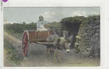 Donkey Postcard - Court-Going to Market