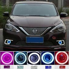 2x LED Daytime Fog Lights Projector angel eye kit For Nissan Sentra 2016 2017
