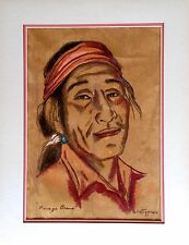VINTAGE RARE GERDA CHRISTOFFERSEN NAVAJO NATIVE AMERICAN ORIGINAL PASTEL ARTWORK