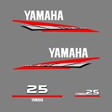 1 kit stickers YAMAHA 25 cv serie 6  - autocollant capot moteur hors-bord decals