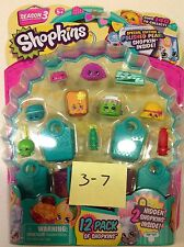 #3-7 Shopkins Season 3 Series 12 Pack Stapler Sausage Macca Roon