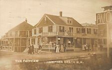 Hampton Beach NH The Fairview Motel & Cafe Storefronts RPPC