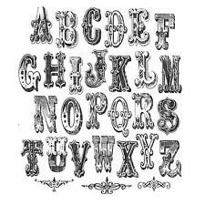 Rubber Stamp Kit Tim Holtz Stampers Anonymous Cirque Alphabet Set 29 pieces