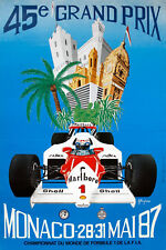 """1987 Monaco Grand Prix Ad Poster - 6.5""""x10"""" Photo"""