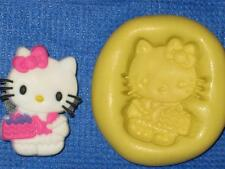 Hello Kitty with Cake Push Mold Food Safe Silicone #766 Chocolate Resin Clay