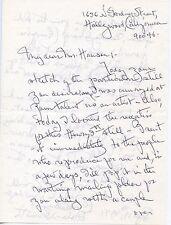 OTTOLA NESMITH Vintage Original RARE AUTOGRAPH Letter & Matching Envelope