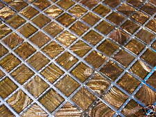 Glasmosaik Fliesen Mosaik GOLDENE SEIDE GOLDREGEN TOP gold braun  bad dusche