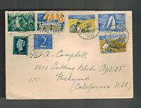 1949 Kollom Netherlands Cover to USA Full Set B194-B198