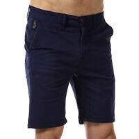 Mens Luke 1977 Corbite Chino Shorts In Navy From Get The Label