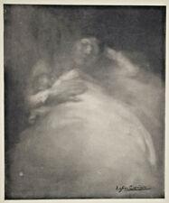 EUGENE CARRIERE Maternite FAC SIMILE Gravure 1906
