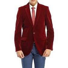 Robelli Men's Velvet Single Breasted Slim Fit Blazer Suit Wedding Jacket