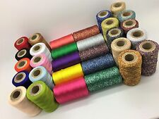 New 30 x Spools Sewing Machine Silk Art Embroidery and Metallic Threads Spools