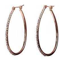 Swarovski Elements Crystal Summerset Hoop Earrings Rose Gold Authentic 7231RGc