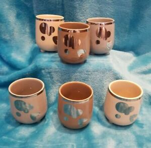 Porcelain Espresso Cups Six Coffee Cup 6 Set Unused Small by Zelig Creation