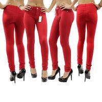 New Jeans Skinny Ladies Womens Fit Stretch Jeggings Trousers Denim Blue Black