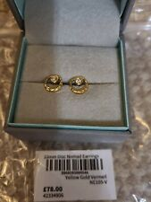 Dower&Hall Disc Nomad Earring 10mm Yellow Gold Vermeil