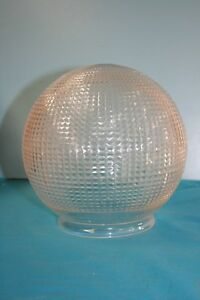 Light Shade. Traditional Style Double Cut Glass Clear Sphere Globe Shade