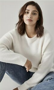 BNWT TRENERY WOOL KNIT JUMPER [10 S] WHITE ALPACA PULLOVER | RP$179 COUNTRY ROAD