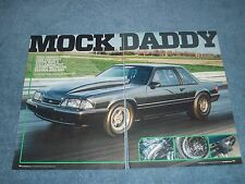 """1989 Ford Mustang Notchback Drag Car Article """"Mock Daddy"""""""