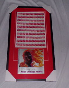 Andy Warhol Signed Framed 19x33 Campbell's Soup Cans Lithograph Poster Display