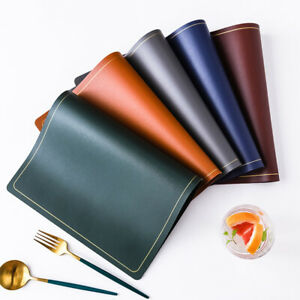 PU Leather Placemat Waterproof Heat Insulation Pad Non-Slip Dining Table Mat