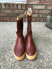 Black Diamond Red Brown Mens Rubber Boots Canada Oil Resistant Preppy Size 9