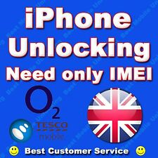 UNLOCKING SERVICE FOR UK O2 UK TESCO UK IPHONE 7 7 PLUS 7+  MODEL CLEAN IMEI