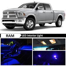 12x Blue Interior LED Lights Package Kit for 2009-2014 Dodge RAM 1500
