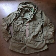 Men's Vintage Alpha Industries 80's Army Forest Green M-65 Field Jacket Sz M 70s