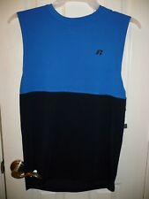 Russell Men's Ventilated Training Muscle Top Size Small 34-36 Blue Navy