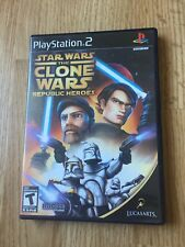 Star Wars Clone Wars Republic Heroes PS2 Sony PlayStation 2 Cib Game XP1
