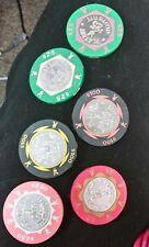 6 - Chips Playboy Casino , Atlantic City  $100-25-5-2.50